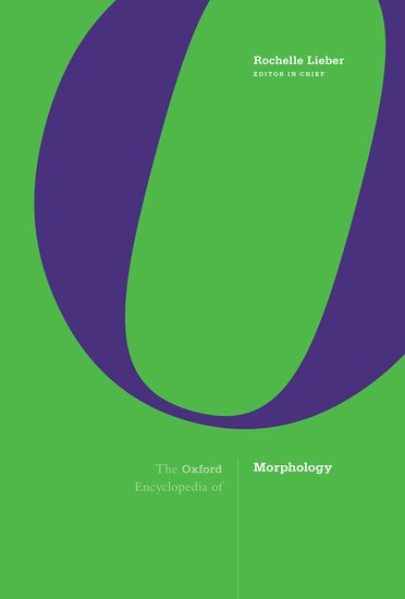 Oxford University Press: Cover of collection of articles on Morphology